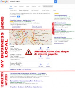 Résultats Google My Business