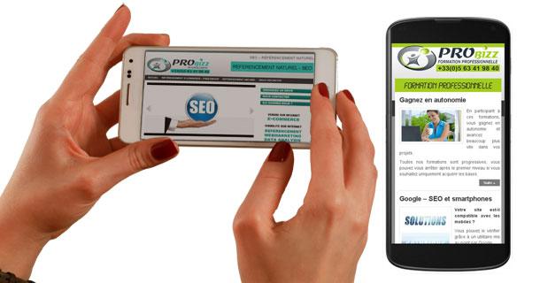 Site internet mobile - smartphone