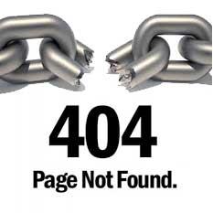 Liens cassés 404 erreur